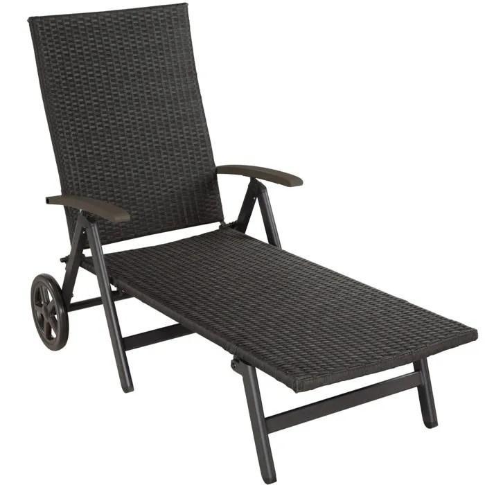chaise longue pliante aluminium