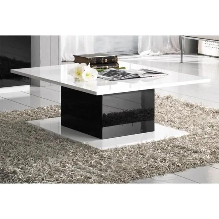 table basse rectangulaire blanc noir