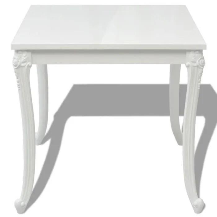table de salle a manger carre blanche 80 x 80 x 76