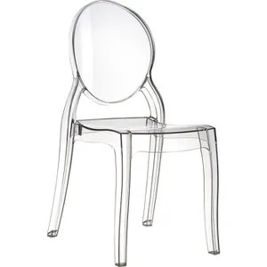 chaise medaillon transparente