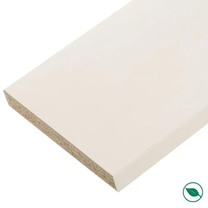 plan de travail stratifie blanc 2770 x 640 ep 28 mm pefc75