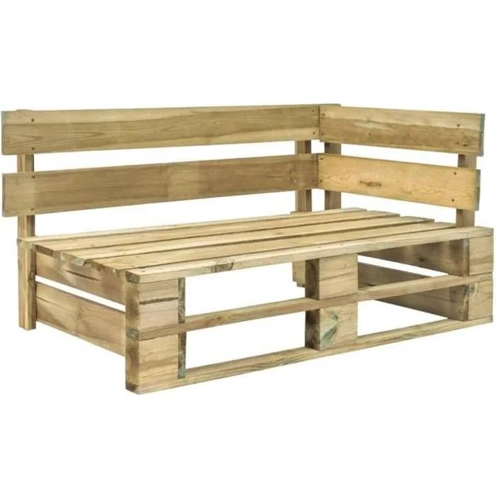 vidaxl banc d angle palette de jardin bois
