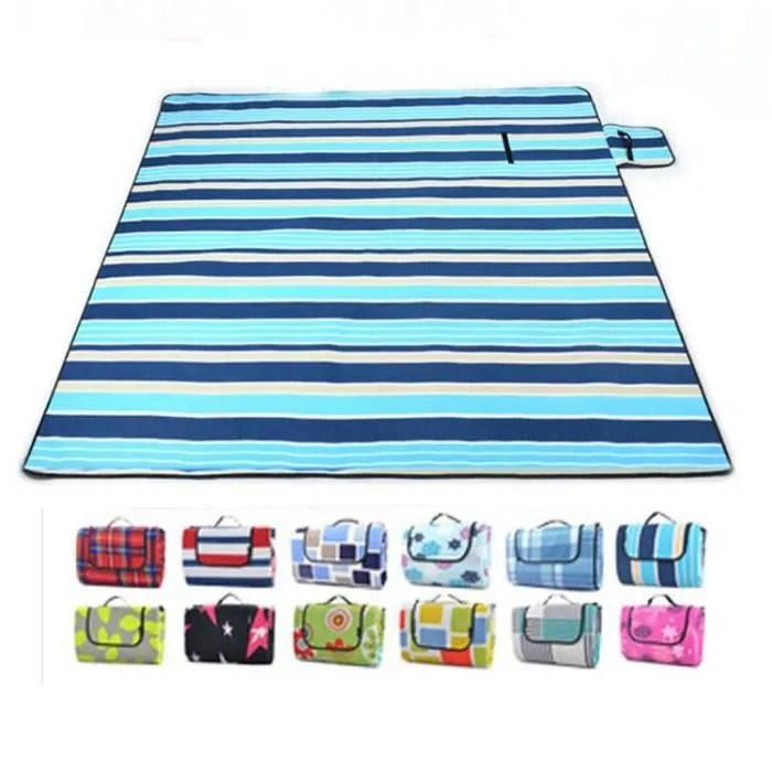 2x2m grand format tapis de plage