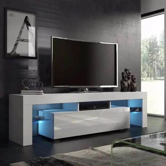 salon blanc 130cm style moderne