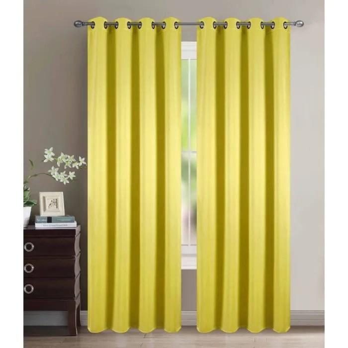 rideaux occultant jaune
