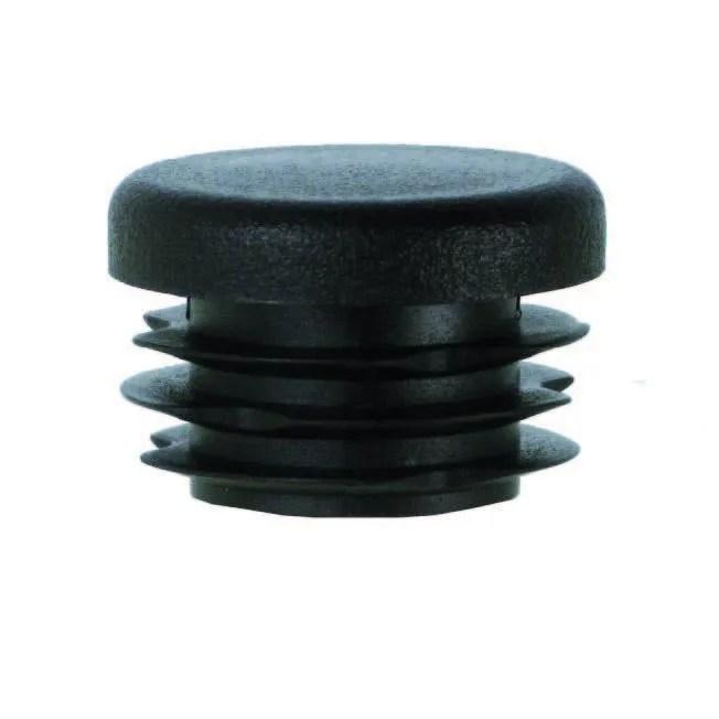 4 embouts noir rond pour tube 25mm a