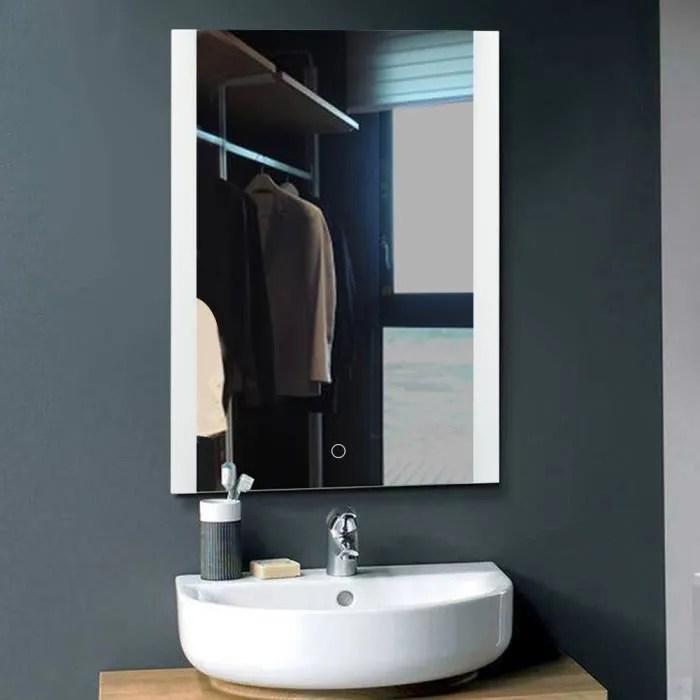 Miroir Lumineux Led De Salle De Bain 60 X 4 X 80 Cm Achat Vente Miroir Salle De Bain Soldes Sur Cdiscount Des Le 20 Janvier Cdiscount