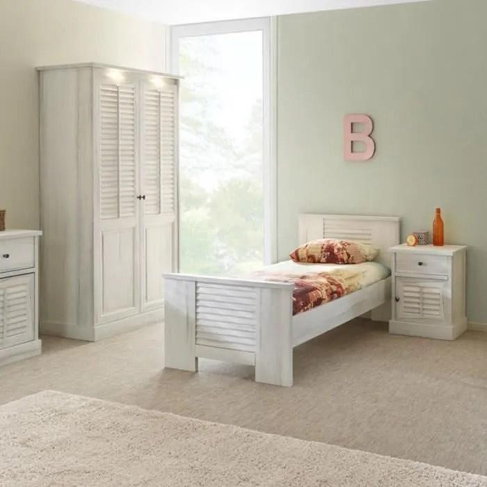 chambre individuelle couleur bois blanc