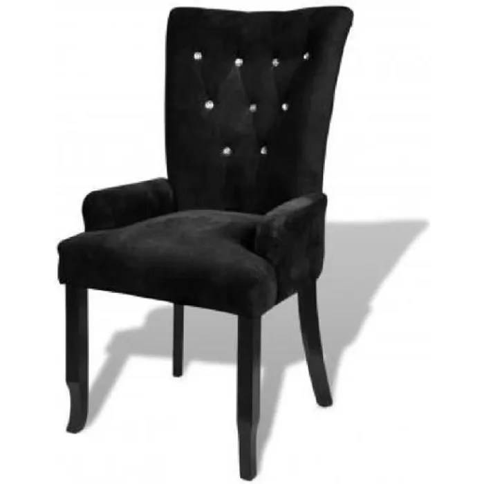 chaise capitonnee noir