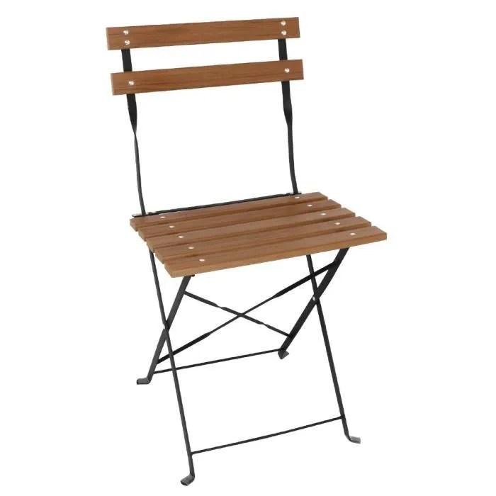 chaise pliante bistro bois