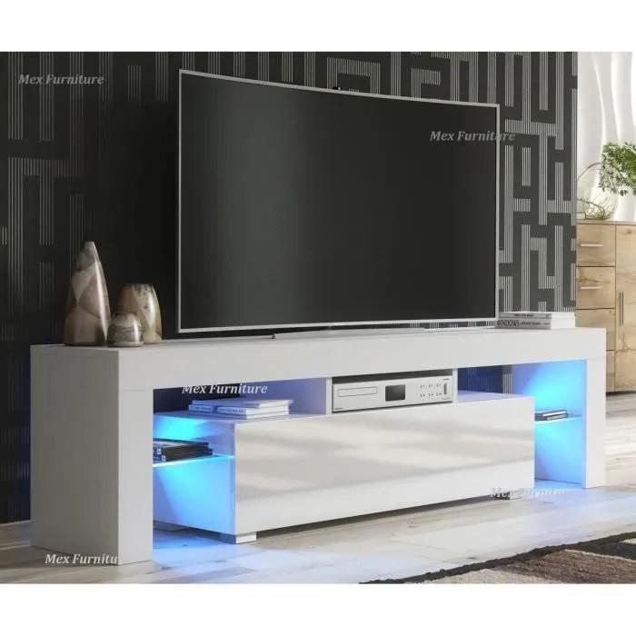 meuble tv banc tv blanc mat 130 cm