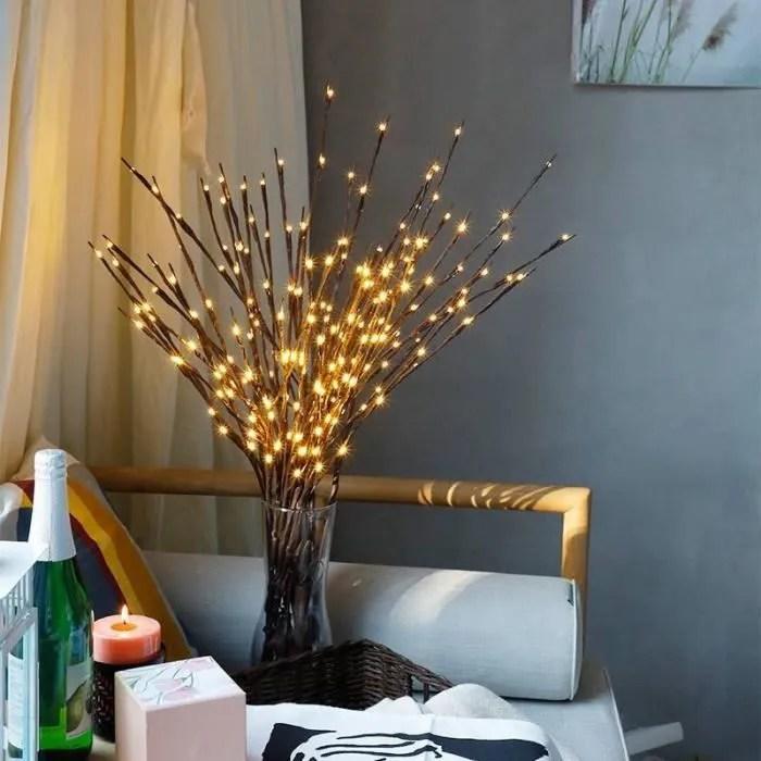 20 led branche d arbre interieur lumiere partie mariage maison jardin decor fee guirlande