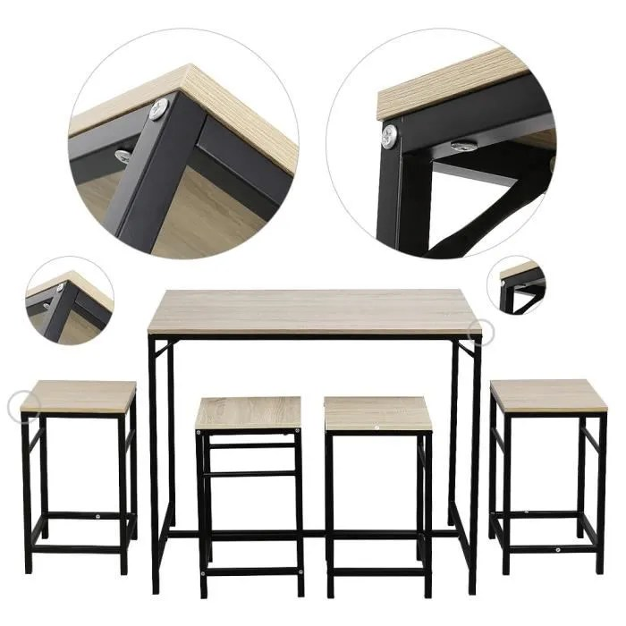ensemble table de bar 4 tabourets set de 1 table 4 tabourets table mange debout table haute