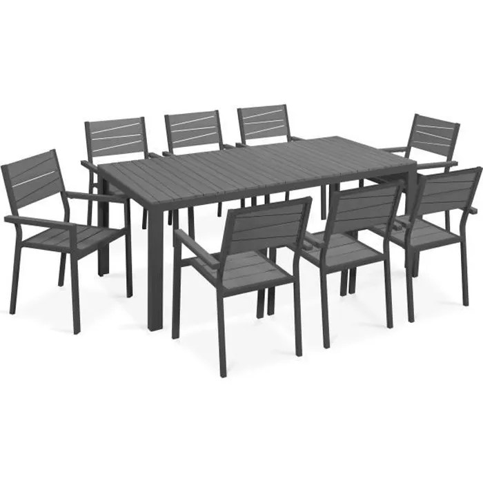ensemble table de jardin 8 chaises