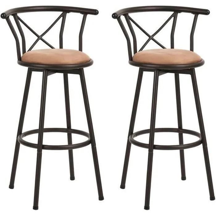 furnish1 lot de 2 tabouret de bar hauteur d assise
