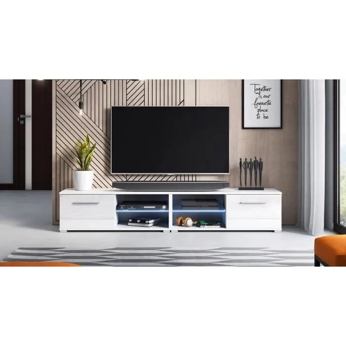 decoro decoro meuble tv design magnum 200 cm cou