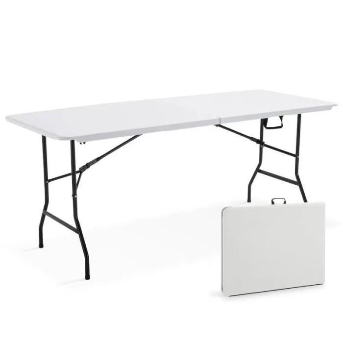 table pliante 180 cm en pehd table pliable de pique nique en resine 180 x 70 x 74 cm