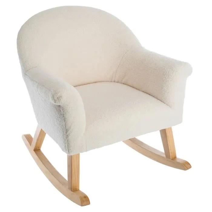 fauteuil a bascule moumoute autres blanc