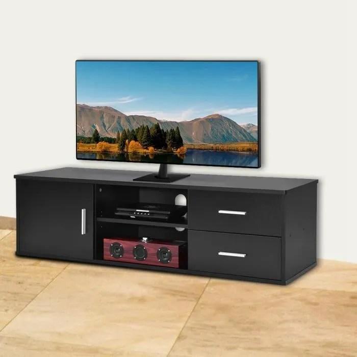 meuble tv a porte unique en bois pour