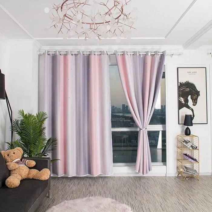 rideau salon rose