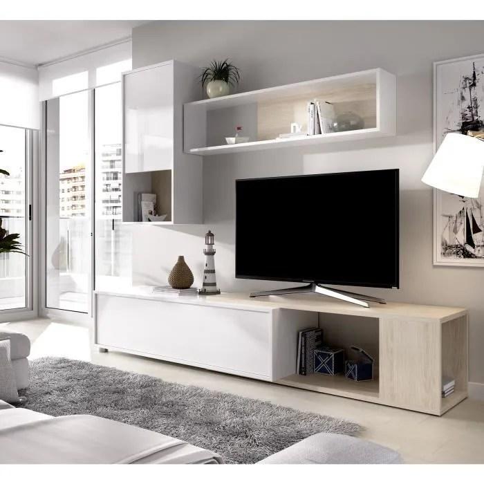 meuble tv chene blanc
