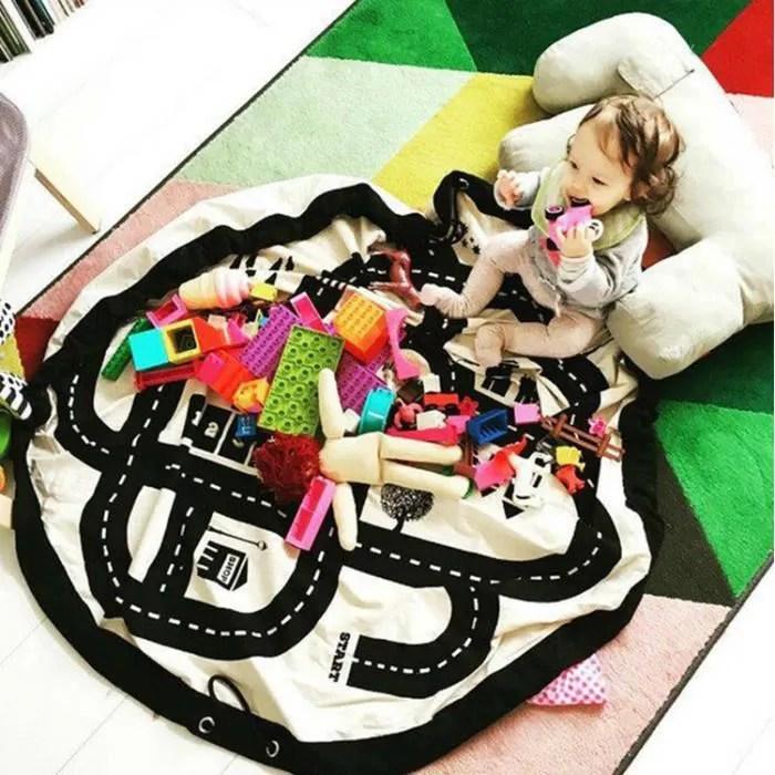 2 en 1 tapis de jeu et sac pour ranger les jouet