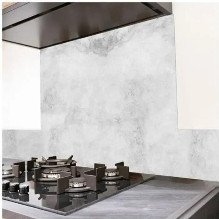 99 deco credence cuisine aluminium beton clair l60xh70cm gris