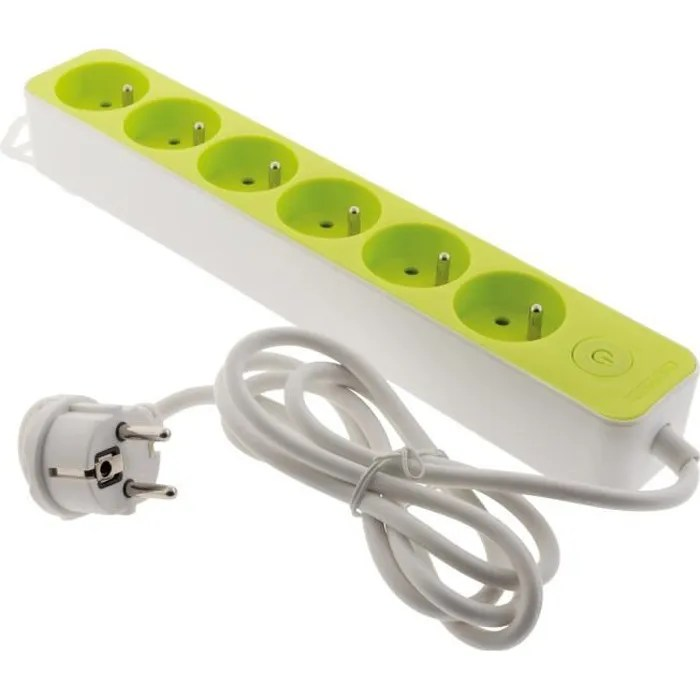 multiprise design 6 prises 16a avec interrupteur