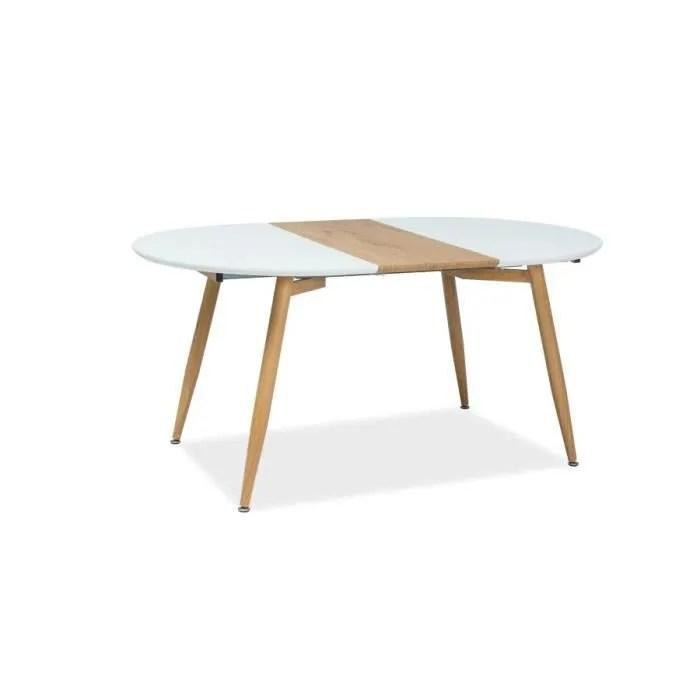 avom grande table ronde avec base en metal style