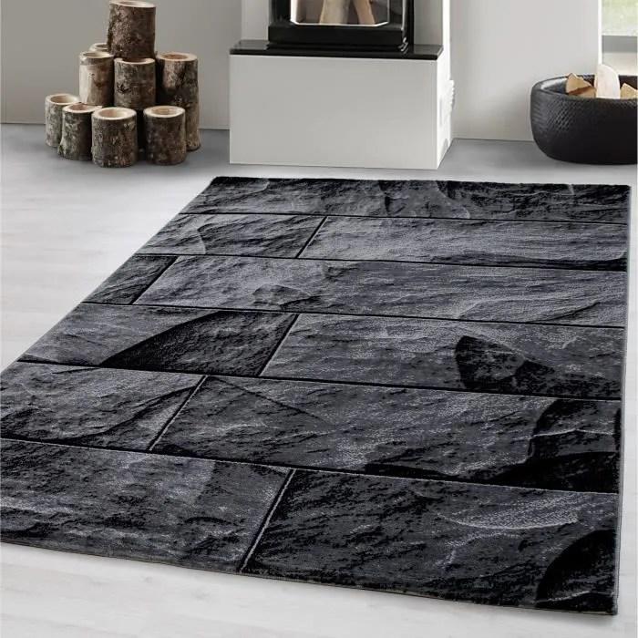 tapis optique moderne a motif de controle de mur de salon de concepteur de tapis moderne gris noir 200x290 cm