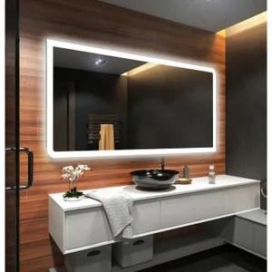 Mixmest Miroir De Salle De Bains 120x70cm Led Eclairage Achat Vente Miroir Salle De Bain Cdiscount
