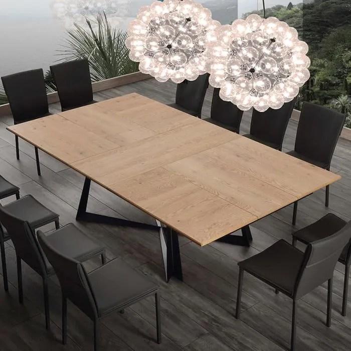 table extensible 10 personnes en bois