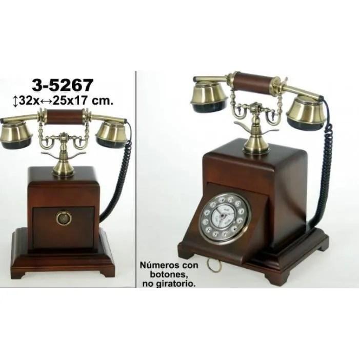 telephone ancien de bois en noyer de