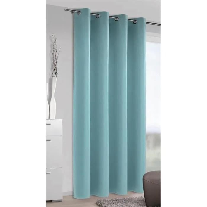 rideau occultant uni bleu glace 140 x 245 cm
