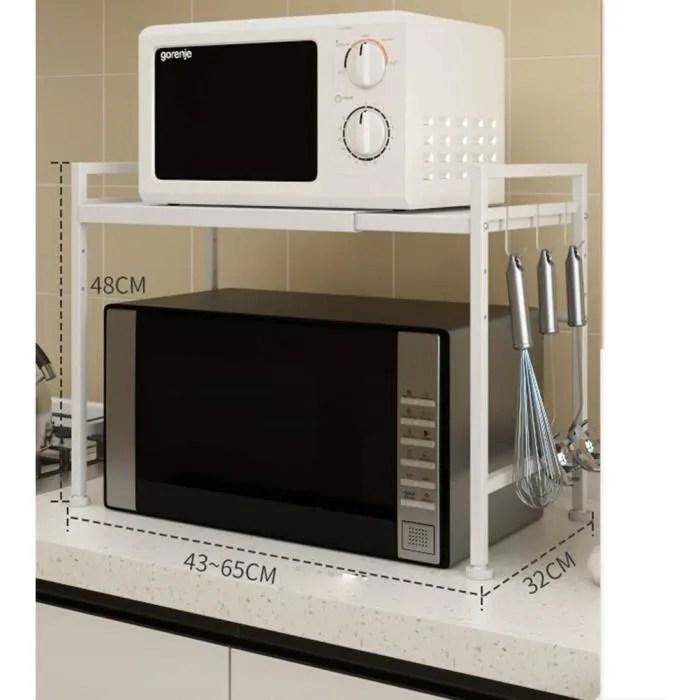 blanc etagere micro onde support cusine telescopique multifonction cuisine etagere pour four a micro ondes etagere meuble en fer
