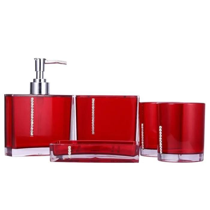 5pcs kit accessoires salle de bain pour toilette r