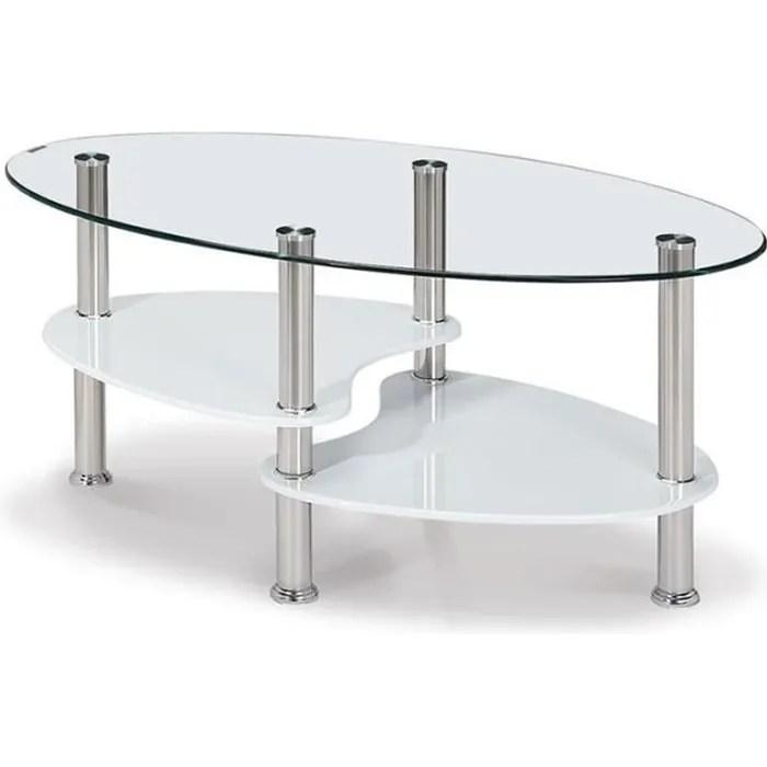 table basse en verre avec rangement cris