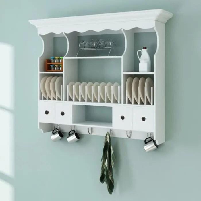 buffet de cuisine armoire de cuisine murale en bois blanc