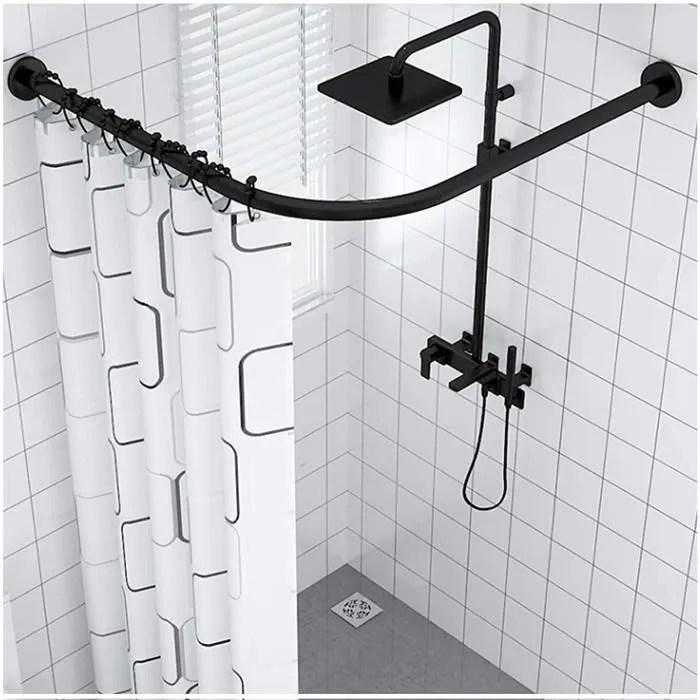 rideau de douche eeuk tringle douche angle baignoire extensible barre rideau douche en forme l acier inoxydable arqueacutee de b341
