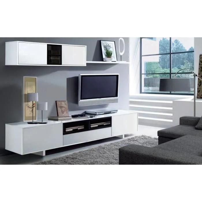 belus meuble tv mural contemporain noir et blanc b