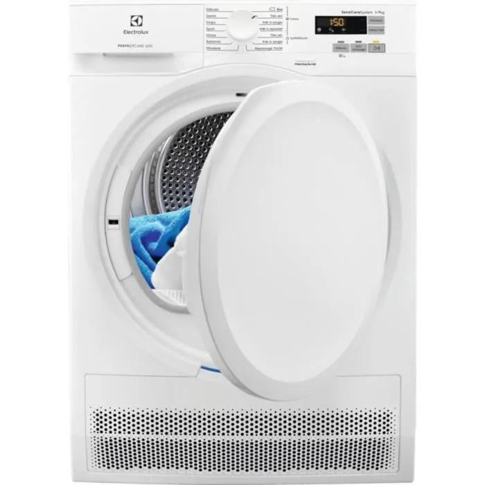 Seche Linge A Condensation Electrolux Ew6c5722cb 7 Kg Classe B Blanc Achat Vente Seche Linge Cdiscount