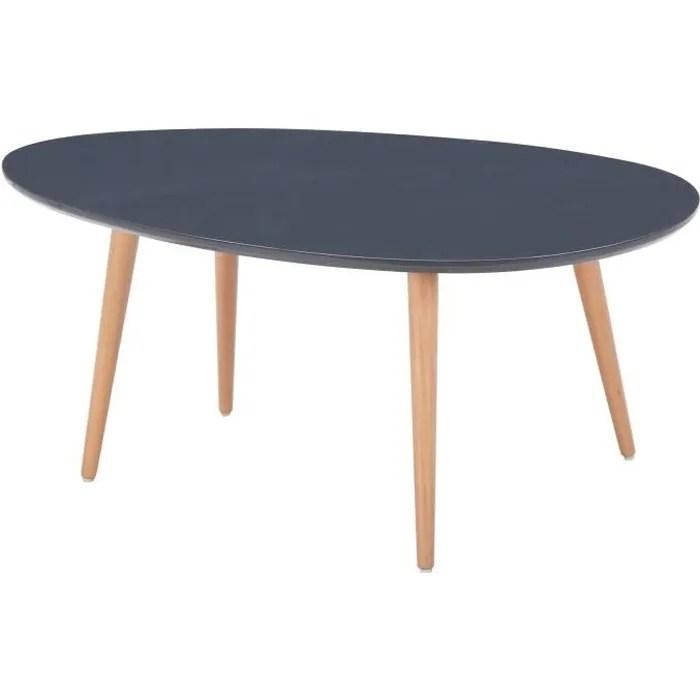 stone table basse ovale scandinave gris laque l 98 x l 61 cm