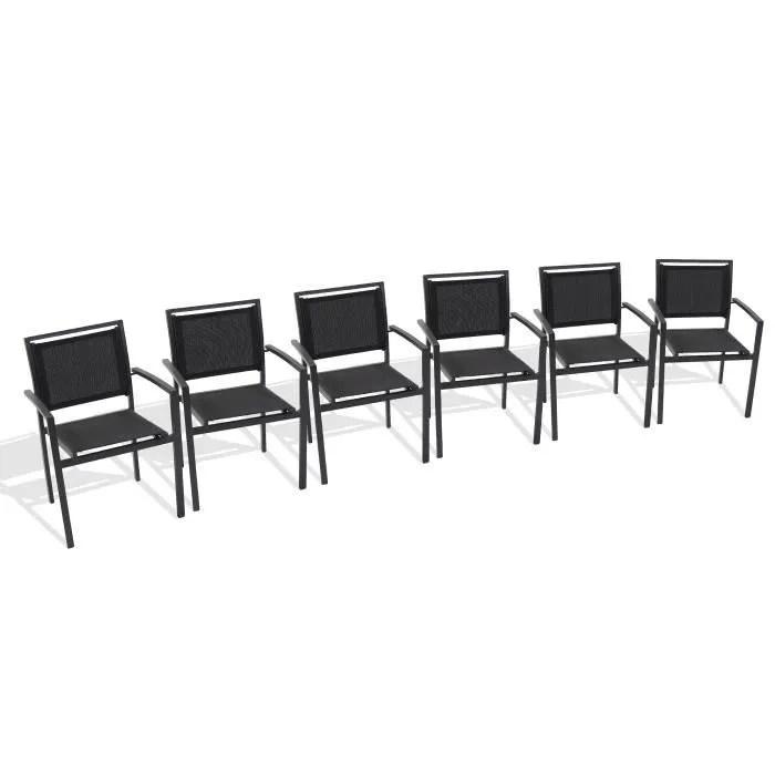 fauteuil jardin aluminium textilene