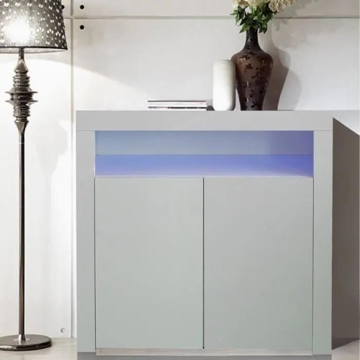 meuble tv led 2 portes 1 etagere avec