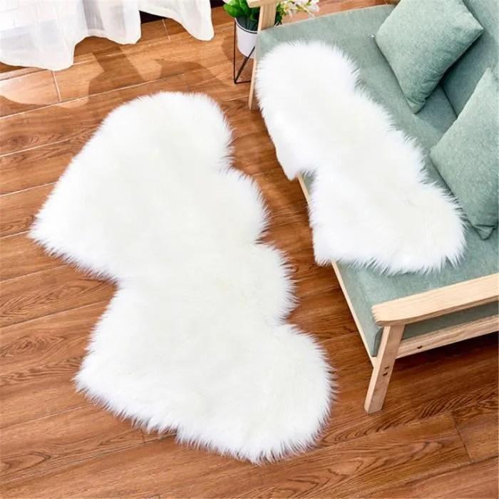 unique v tapis de sol double coeur laine artificie