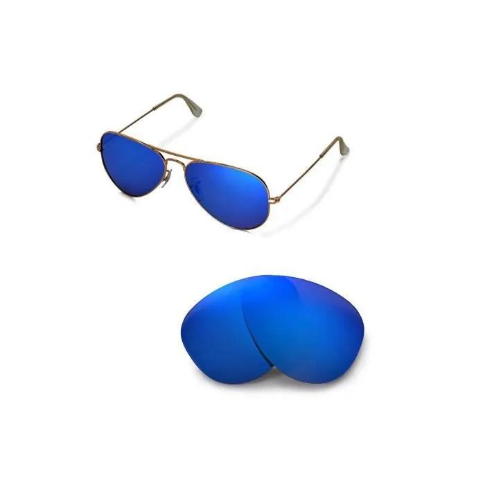 ray ban aviator verre bleu