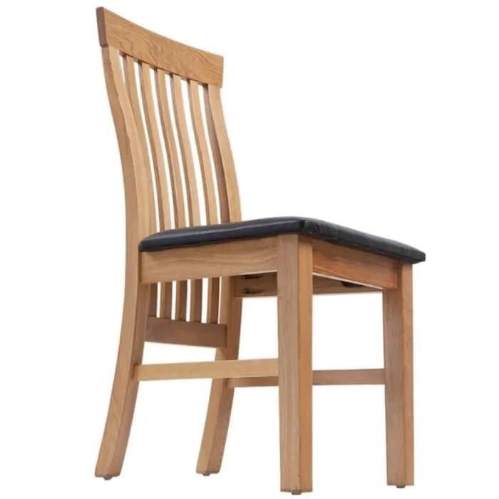 chaises en cuir et bois salle a manger