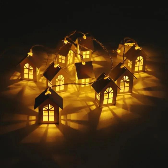 2m 10 lampes guirlandes lumineuses petite maison e
