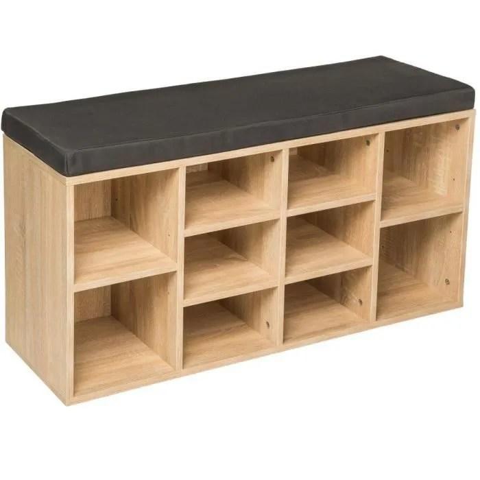 meuble a chaussures etagere meuble banc gris fonce marron chene clair 2008145