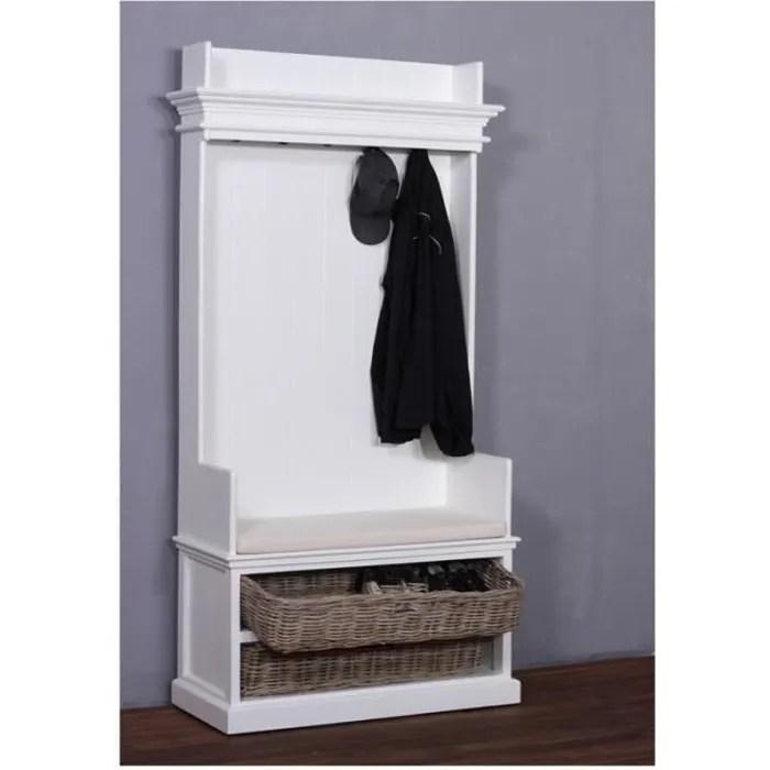 armoire penderie ouverte bois blanc collection leirfjord
